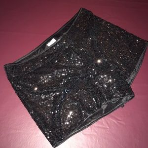 Black sequins Cache shorts